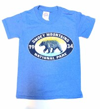 Boys' Chicklet Bear Royal T-Shirt - Smoky Mountains National Park