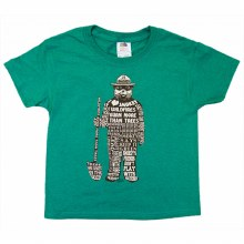 Kids Smokey Bear Saying Tee - Heather Green