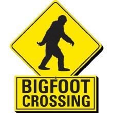 Wooden Bigfoot Crossing Magnet