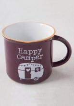 Happy Camper Eggplant Camp Mug