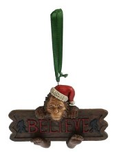 "Bigfoot 'Believe"" Ornament"