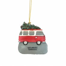Old School Van w/ Christmas Tree Ornament Gatlinburg