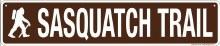 Sasquatch Trail Sign