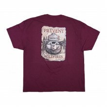 Smokey Bear on a Scroll Tee - Maroon