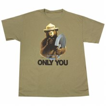 Smoky Bear with Shovel - Khaki