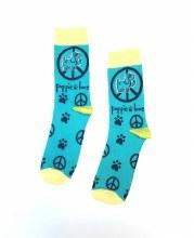 Women's Puppy Love Peace Crew Socks