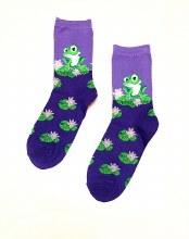 Women's Lilypad Frog Crew Socks