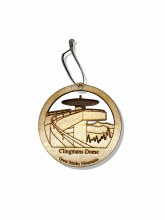 Clingmans Dome Wood Christmas Ornament