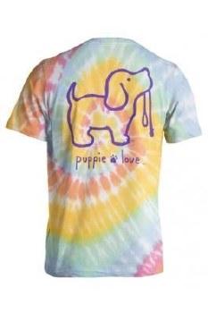 Puppie Love Tie Dye Pup Tee