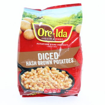 Ore-Ida (Oregon & Idaho) Diced Hash Brown Potatoes, Gluten Free, 32 oz 32 oz