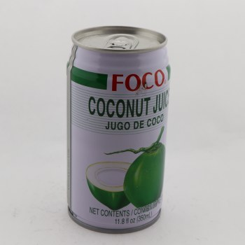 Foco Coconut Juice, Contains 80% Juice, Contains Sulfites 11.8 oz