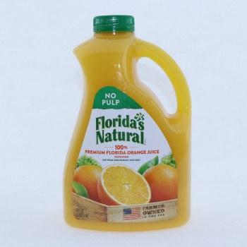Floridas Natural 100Per Cent Premium Florida Orange Juice. No Pulp. 89 fl oz.