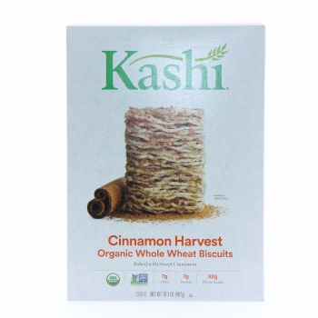 Kashi Cinnamon Harvest Organic Whole Wheat Biscuit Cereal  13.6 oz