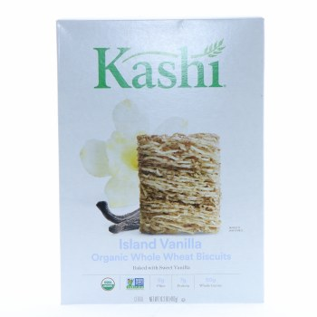 Kashi Island Vanilla Organic Whole Wheat Biscuit Cereal  13.4 oz
