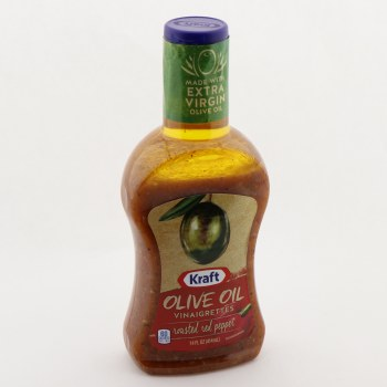Kraft Olive Oil Vinaigrette Roasted Red Pepper Made With Extra Virgin Olive Oil  and  Real Roasted Red Peppers 14 oz