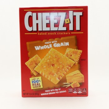 Cheez It Baked Snack Crackers Made With Whole Grain & 100% Real Cheese 12.4 oz