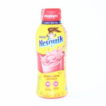 Nestle, Nesquik Strawberry, Lowfat Milk, Gluten Free, No High Fructose Corn Syrup  14 oz