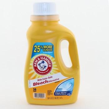 Arm & Hammer Clean Burst with Color-Safe Bleach Alternative Detergent, 26 Loads 50 oz