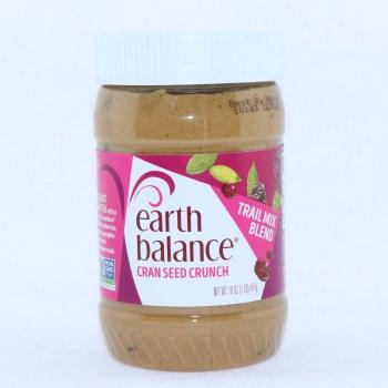 Earth Balance Cran Seed Crunch Peanut Butter Gluten Free Vegan 16 oz