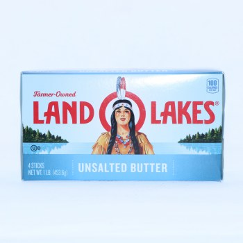 Land O Lakes Unsalted Butter. 4 Quarters.  16 oz