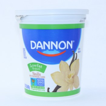 Dannon Vanilla Yogurt, Low Fat, Non GMO, Gluten Free, 32oz 32 oz