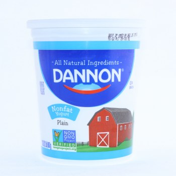 Dannon Plain Yogurt, Non-Fat, Non GMO, Gluten Free, 32oz 32 oz