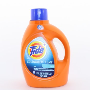 Tide Original Coldwater Clean Detergent HE Turbo Clean 59 Loads