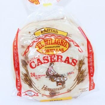 El Milagro Caseras, Fajitas Flour Tortillas. 24 oz.  24 oz