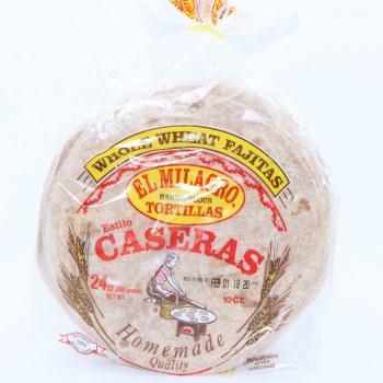 El Milagro Tortillas Caseras Whole Wheat Fajitas  24 oz