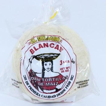 El Milagro Blancas Corn Tortillas Three Dozen 28 oz  28 oz