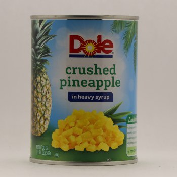 Dole Crushed Pineapple In Heavy Syrup 20 oz