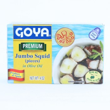 Goya Jumbo Squid (Pieces) in Olive Oil, Gluten Free, No Additives, No Artificial Flavors, 4 oz 4 oz