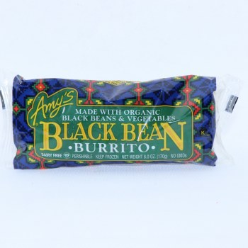 Amy's Black Bean Burrito, made with Organic Black Beans & Vegetables, Dairy Free, No GMOs, 6.0 oz 6 oz