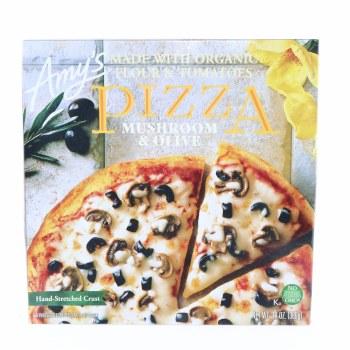 Amys Mushroom Olive Pizza