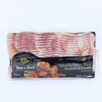 Boars Head Naturally Smoked Bacon Product of Canada 16 oz
