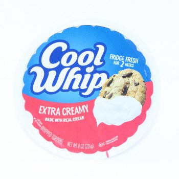 Cool Whip Extra Creamy made with Real Cream, Whipped Topping, 8 oz 8 oz