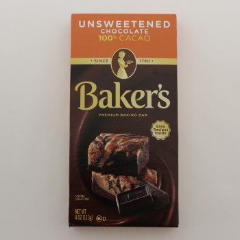 Bakers Unsweeted Chocolate