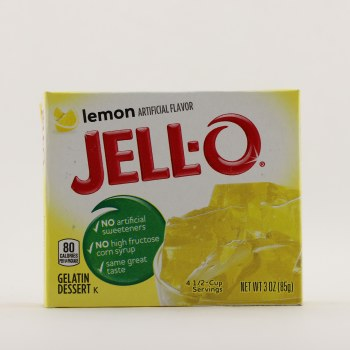 Jello Lemon Gelatin 3 oz