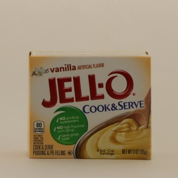 Jello Vanilla Cook  and  Serve 3 oz