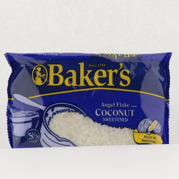 Bakers angel flake Coconut 14 oz