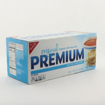 Nabisco Original Topped with Sea Salt Premium Saltine Crackers 16 oz