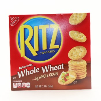 Nabisco Whole Wheat Ritz Crackers Made with 5g of Whole Grain 12.9 oz