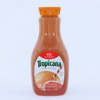 Tropicana Red Grapefruit. 100Per Cent Grapefruit Juice. 52 fl oz.