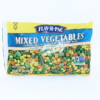 Flav-R-Pac Mixed Vegetables with Carrots Corn Peas Green Beans and Lima Beans 12 oz