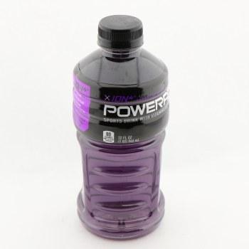 Powerade Grape Flavored Sports Drink Contains Sodium Potassium Calcium  and  Magnesium 32 oz