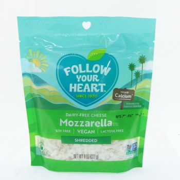 Follow Your Heart Vegan Mozzarella Gourmet Shreds 100Per Cent Dairy Free Gluten Free Soy Free Melts Great 8 oz