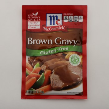 McCormick Brown Gravy Mix, Gluten Free, No MSG, No Artificial Flavors 0.87 oz