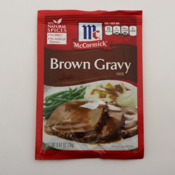 McCormick Brown Gravy Mix, No MSG, No Artificial Flavors 0.87 oz
