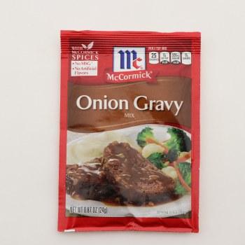 McCormick Onion Gravy Mix, No MSG, No Artificial Flavors 0.87 oz