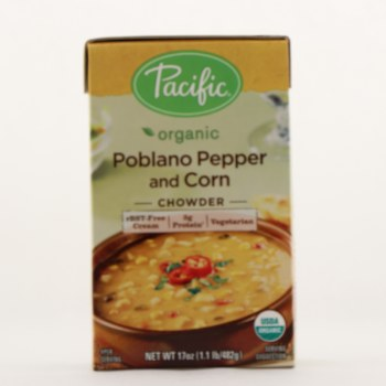 Pacific poblano pepper corn 17 oz